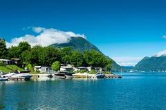 Lugano lake, Italy Royalty Free Stock Photos
