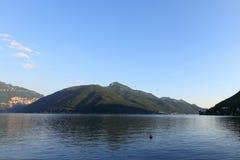 Lugano lake landscape Stock Image