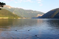 Lugano lake landscape Stock Images