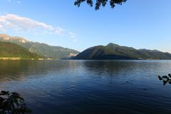 Lugano lake landscape Stock Photography