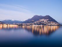 Lugano and Lake Lugano in Ticino, Switzerland Royalty Free Stock Photography