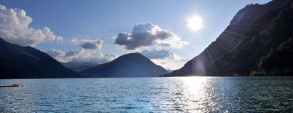 Lugano lake. Northern Lombardy, swiss border Stock Photography