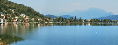 Lugano lake. Northern lombardy swiss border Stock Photos