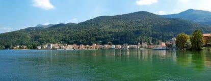 Lugano lake porto ceresio Stock Photography