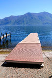 Lugano lake shore. Royalty Free Stock Photo
