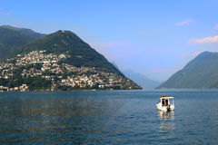 Lugano lake Stock Image