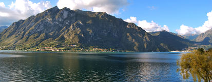 Lugano lake. Swiss border, lombardy region Stock Photos