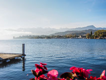 Lugano lake, Switzerland Stock Images