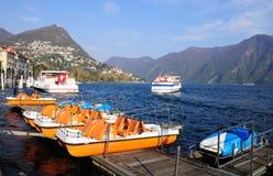 Lugano lake. Switzerland. Stock Photo
