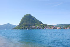 Lugano lake, Switzerland Stock Photography