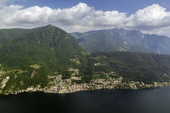 Lugano lake, Switzerland Royalty Free Stock Images