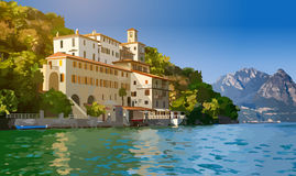Lugano lake in Switzerland Royalty Free Stock Photography
