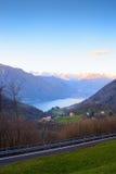 Lugano Lake Stock Image