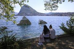 Lugano stock photo