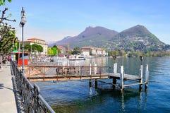 Lugano meer Royalty-vrije Stock Afbeeldingen