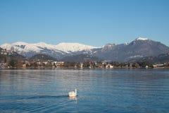 Lugano meer Royalty-vrije Stock Afbeelding