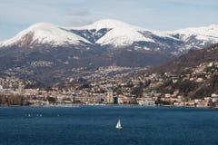 Lugano meer Royalty-vrije Stock Fotografie