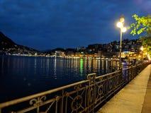 Lugano meer in Zwitserland royalty-vrije stock foto