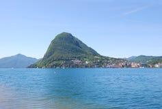 Lugano meer, Zwitserland Stock Fotografie