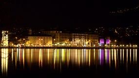Lugano by Night Royalty Free Stock Photos