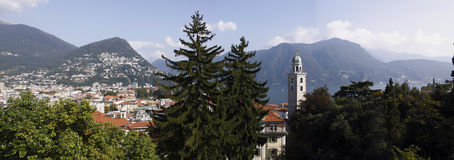 Lugano panorama Royalty Free Stock Image