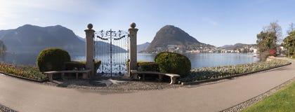 Lugano, Parco Ciani, city garden Royalty Free Stock Photos