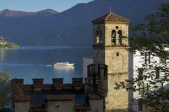 Lugano See Stockfoto
