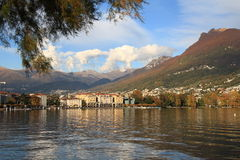 Lugano See stockfotografie