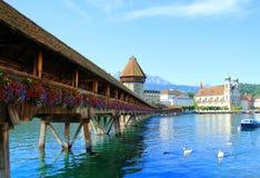 Lugano See in der Schweiz Lizenzfreies Stockbild