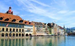 Lugano See in der Schweiz Lizenzfreies Stockfoto
