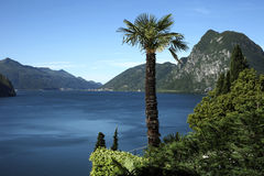 Lugano See, die Schweiz Lizenzfreies Stockfoto