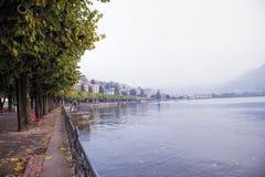 Lugano See, die Schweiz lizenzfreies stockbild