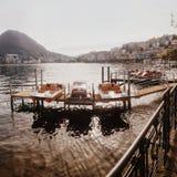 Lugano sjö Schweiz Royaltyfri Foto