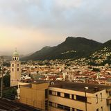 Lugano-Stadt lizenzfreies stockfoto