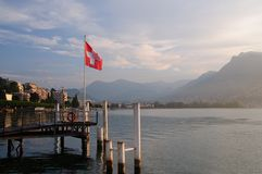 Lugano-Suiza Imágenes de archivo libres de regalías