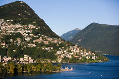 Lugano, Switzerland. Lugano, city and lake in Switzerland - summer destination Royalty Free Stock Image