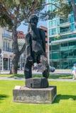 Paradiso 2000 Klaus Prior Der offene sculpture. Lugano, Switzerland - June 1, 2019: Paradiso 2000 Klaus Prior Der offene sculpture royalty free stock image
