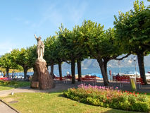 Lugano, Switzerland. Statue of William Tell Stock Photos
