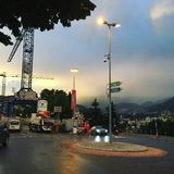 Lugano train station stock photo
