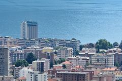 Lugano und sein See Lizenzfreie Stockfotos