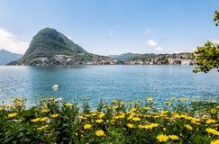 Lugano, view of the gulf Stock Photo