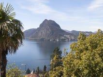 Lugano, view of Mont San Salvatore Stock Photo
