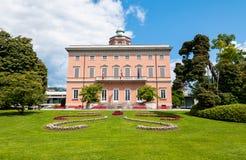 Lugano, Villa Ciani in het stadspark stock foto's