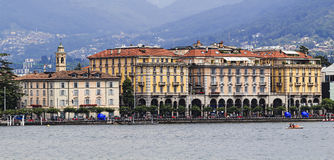 Lugano Waterfront Close Stock Photography