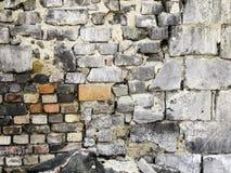 Lugar abandonado - pared de ladrillo Fotografía de archivo libre de regalías