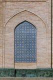 Lugar adornado en la pared, Uzbekistán de la ventana Imagenes de archivo