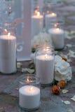 Lugar adornado para una ceremonia de boda Foto de archivo libre de regalías