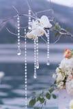 Lugar adornado para una ceremonia de boda Fotografía de archivo