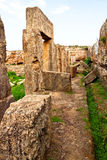 Lugar antiguo Amrit de Siria - de Tartus Foto de archivo