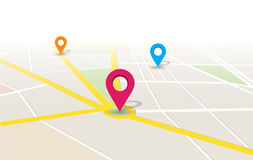 Lugar App do mapa do vetor Imagens de Stock Royalty Free
